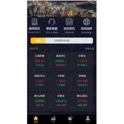 2021年新版UI微盘微交易系统