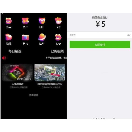 最新版新UI包天付费视频打赏程序 带包天+可扣量+代理+多模板非云赏V系列
