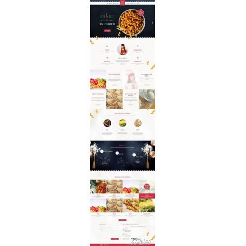 面包店网站模板_甜品店网上预订网站模板html整站模板