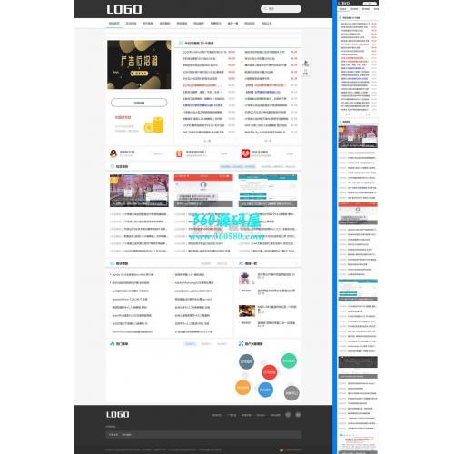 响应式简洁软件资讯类网站织梦模板(自适应)